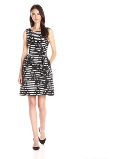 Vince Camuto Women's Jacquard Fit and Flare