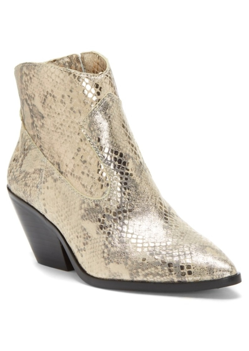 Vince Camuto Women's Jemeila Snake-Embossed Booties Women's Shoes