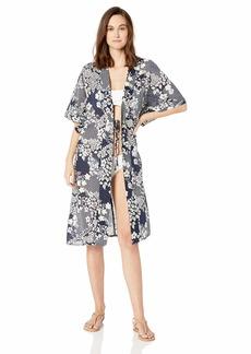 VINCE CAMUTO Women's Kimono Swimsuit Cover up Zen Garden deep sea