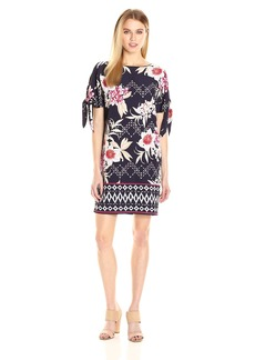 Vince Camuto Women's Knotted Sleeve Shift Dress