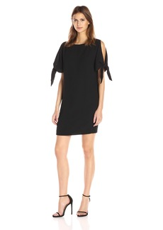 Vince Camuto Women's Knotted Sleeves Shift Dress