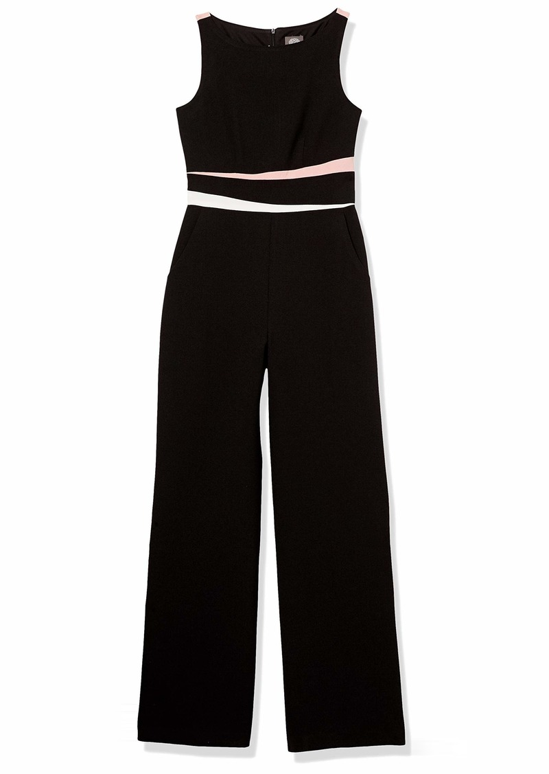 Vince Camuto Women's Kors Wide Leg Crepe Jumpsuit (Regular and Petite)