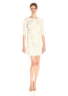 Vince Camuto Women's Lace Bell Sleeve Shift Dress