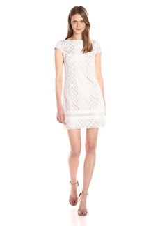 VINCE CAMUTO Women's Lace Cap Sleeve Shift Dress