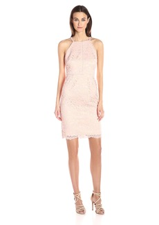 Vince Camuto Women's Lace Halter Bodycon Dress