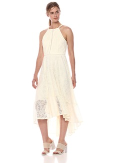 VINCE CAMUTO Women's Lace Halter Maxi Dress