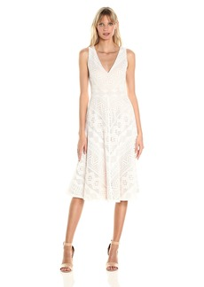 Vince Camuto Women's Lace Midi Length Dress