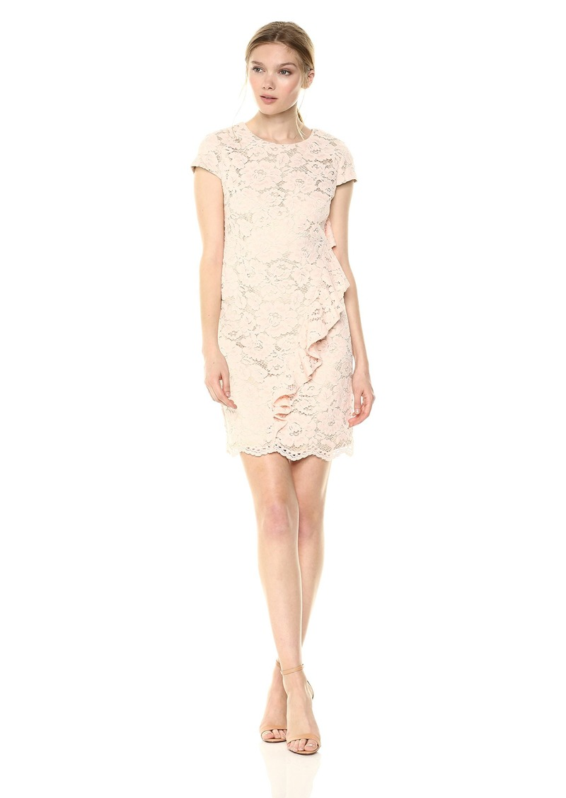 Vince Camuto Women's Lace Ruffle Shift Dress
