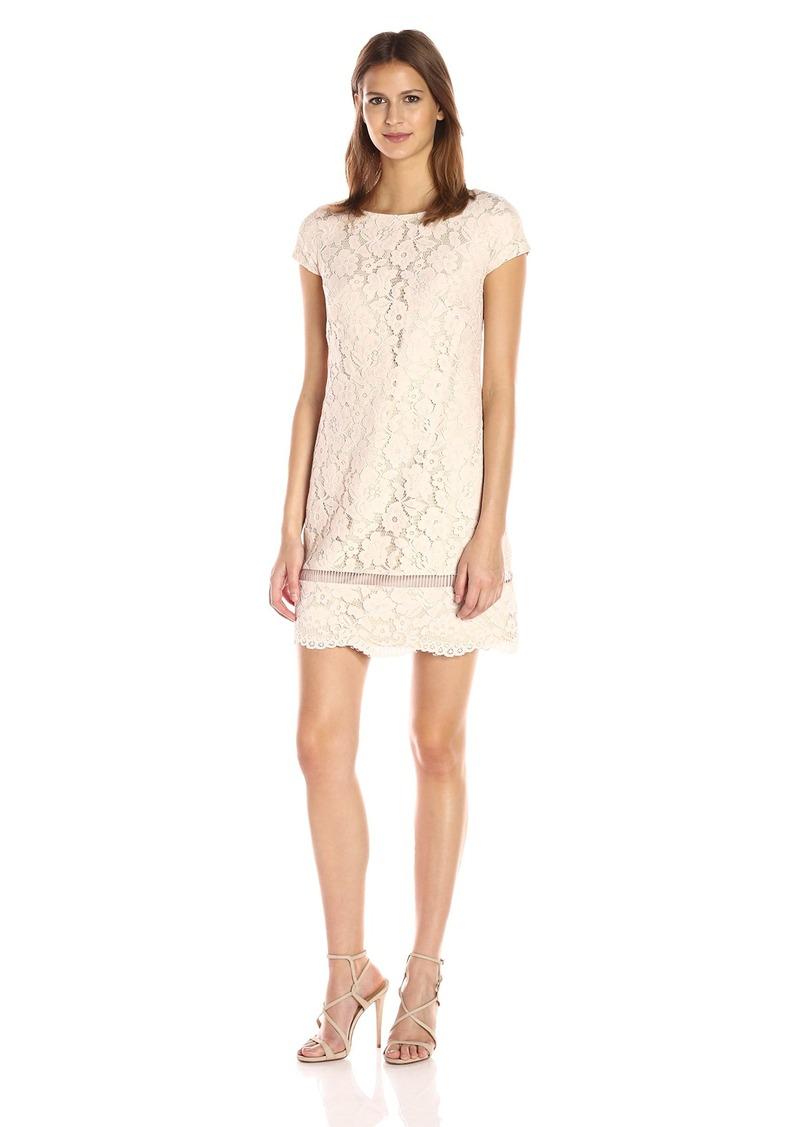 Vince Camuto Vince Camuto Womens Lace Shift Dress Dresses