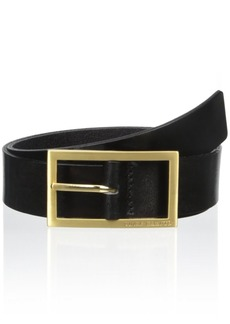 Vince Camuto Women's Leather Belt with Logo Buckle