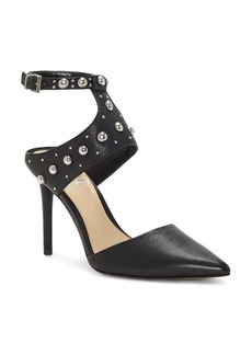 VINCE CAMUTO Women's Ledana Studded Ankle Strap Pumps