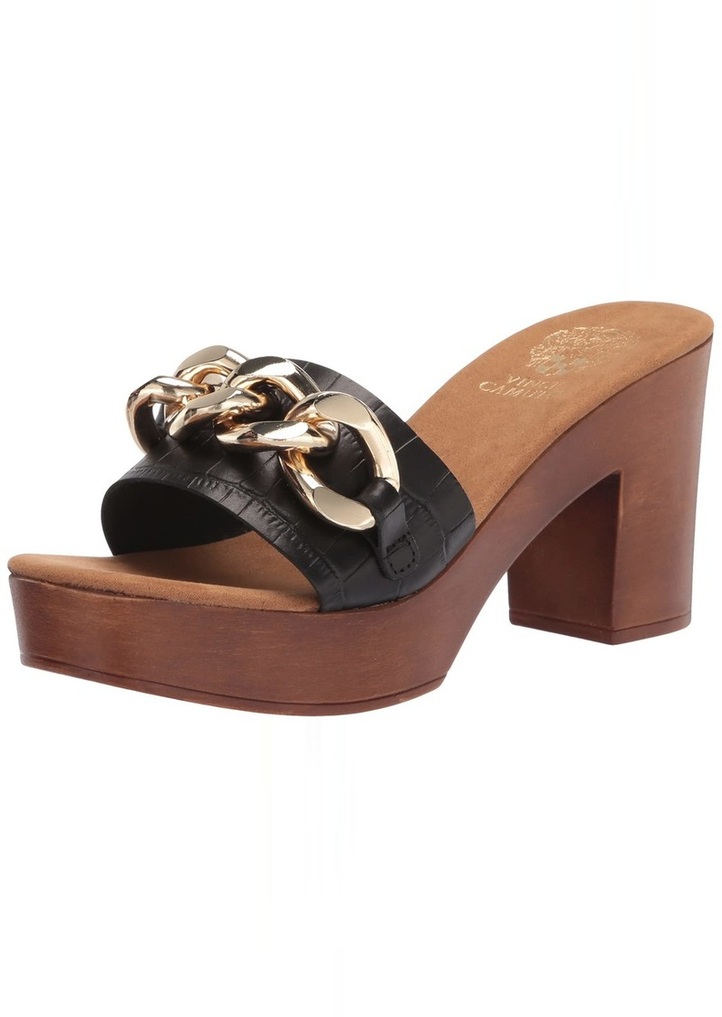 Vince Camuto Women's LEETA Wood Heeled Sandal