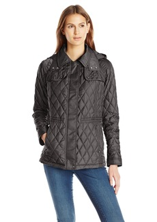 Vince Camuto Women's Lightweight Quilted Jacket with Cinched Waist