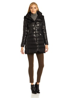 Vince Camuto Women's Long Down Coat Snap Front