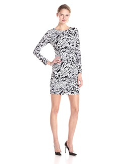 Vince Camuto Women's Long Sleeve Current Medley Dress