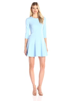 Vince Camuto Women's Long Sleeve Drop Waist Fit and Flare Dress