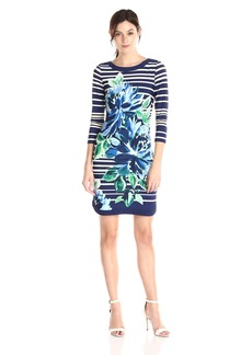 Vince Camuto Women's Long Sleeve ed Shift Dress