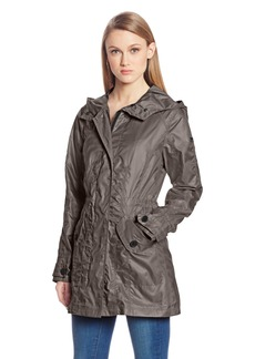 VINCE CAMUTO Women's Long-Sleeve Hooded Anorak Jacket Coat with Pockets  Medium