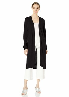 Vince Camuto Womens Long Sleeve Open Front Textured Long Cardigan  MD One Size