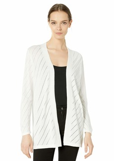 VINCE CAMUTO Women's Long Sleeve Pointelle Cardigan