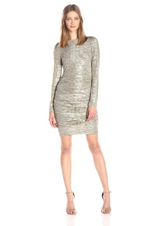 Vince Camuto Women's Long-Sleeve Ruched Dress