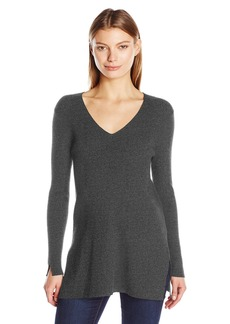 Vince Camuto Women's Long Sleeve V-Neck Ribbed Sweater