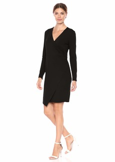 Vince Camuto Women's Long Sleeve Wrap Front Dress