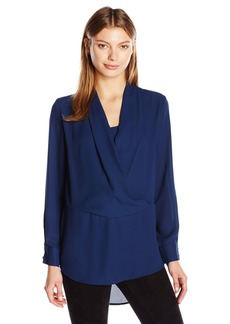 Vince Camuto Women's Long Sleeve Wrap-Front Tunic