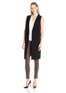 Vince Camuto Women's Long Vest with Patch Pockets