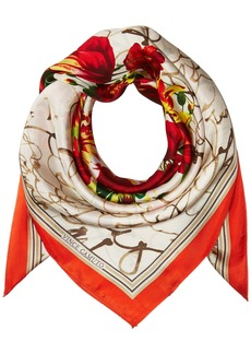 Vince Camuto Women's Love Letter Silk Square Scarf red O/S