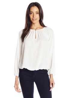 Vince Camuto Women's L/s Shirred-Neck Peasant Blouse