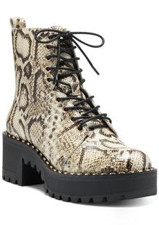 Vince Camuto Women's Mecale Lug Sole Combat Booties Women's Shoes