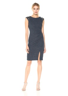 Vince Camuto Women's Metallic Knit Sheath Dress