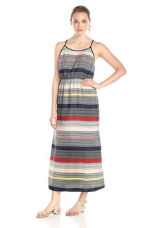 Vince Camuto Women's Morocco Tile Stripe Maxi Dress