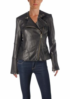 Vince Camuto Women's Moto Leather Jacket