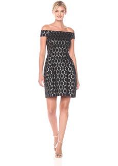 Vince Camuto Women's Off the Shoulder Jacquard Dress
