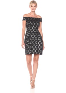 Vince Camuto Women's Off the Shoulder Jacquard Dress