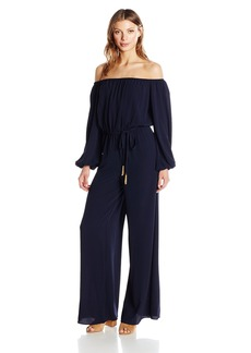 Vince Camuto Women's Off The Shoulder Long Sleeve Jumpsuit