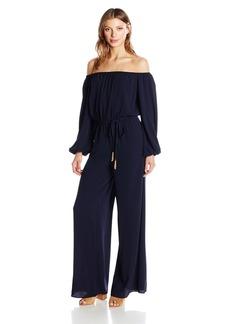 Vince Camuto Women's Off The Shoulder Long Sleeve Jumpsuit