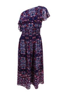 VINCE CAMUTO Women's One Shoulder Midi Dress