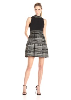 Vince Camuto Women's Party Dress with Beaded Collar