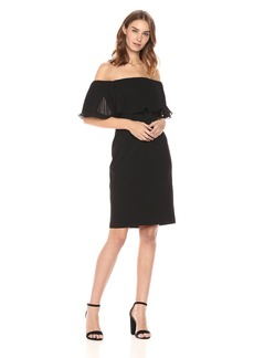 Vince Camuto Women's Pleated Off The Shoulder Dress