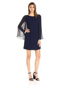Vince Camuto Women's Pleated Sleeve Shift Dress