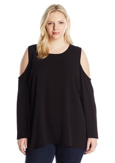 Vince Camuto Women's Plus Size Bell Sleeve Cold-Shoulder