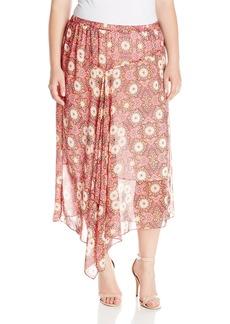 Vince Camuto Women's Plus-Size Casablanca Tile Asymmetrical Skirt