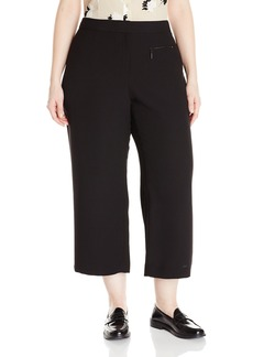 Vince Camuto Women's Plus Size Culottes with Zip Pocket