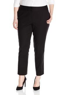 Vince Camuto Women's Plus Size Front Zip Ankle Pant  14W