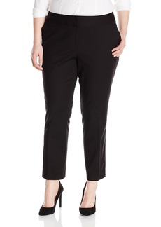 Vince Camuto Women's Plus Size Front Zip Ankle Pant  18W
