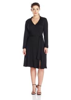 Vince Camuto Women's Plus Size L/s Faux Wrap Dress  1X