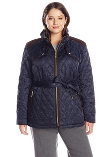 Vince Camuto Women's Plus-Size Quilted Barn Jacket